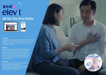 Elevit: The First Hello [image] 2 Digital Advert by PHD Shanghai