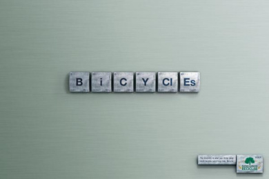 INSTITUTO AMBIENTAL RECICLAR: BICYCLES Print Ad by Age Comunicacoes Sao Paulo