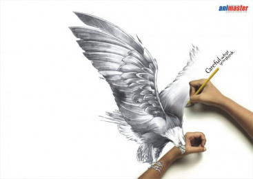Animaster Animation School: Eagle Print Ad by Rediffusion Y&R