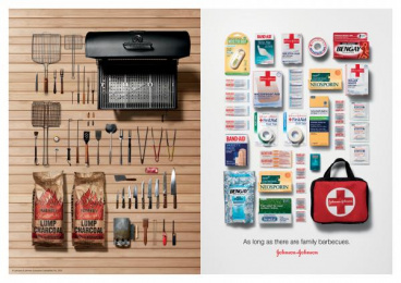 Johnson & Johnson Products: BBQ Print Ad by BBDO New York