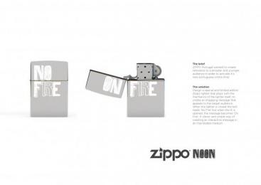 Zippo Pocket Lighter: ZIPPO NOON Design & Branding by Lalaland