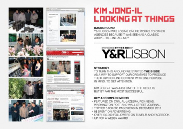 Y&R: KIM JONG-IL LOOKING AT THINGS Promo / PR Ad by Y&R Lisboa