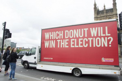 Dunkin Donuts: Which Donut will win the election? 5 Outdoor Advert by The Martin Agency London