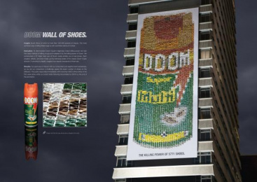 Doom: WALL OF SHOES Outdoor Advert by TBWA\Hunt\Lascaris Johannesburg