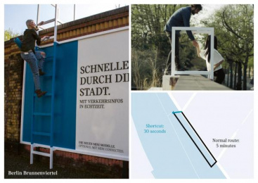 MINI: The Shortcut Billboards [Supporting Images], 2 Ambient Advert by Serviceplan Munich