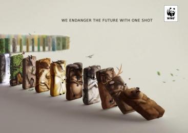 WWF: One Shot Print Ad by DDB Tbilisi