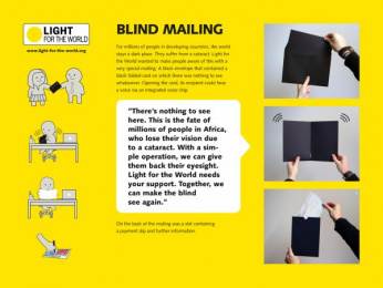 Light For The World Appeal: BLIND MAILING Direct marketing by PKP BBDO Vienna