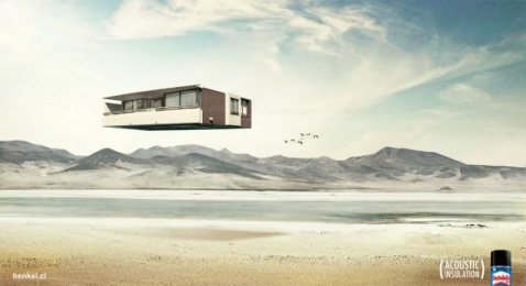 Elastosello Acoustic Insulation: Desert Print Ad by DDB Santiago