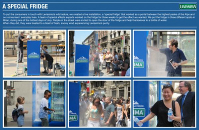 Levissima Water: A SPECIAL FRIDGE Direct marketing by Lowe Pirella Milan