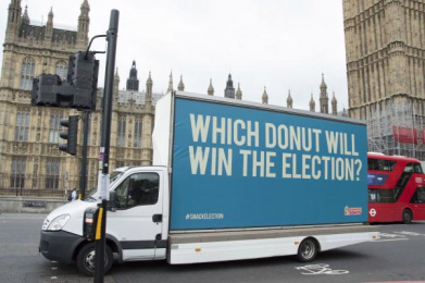 Dunkin Donuts: Which Donut will win the election? 3 Outdoor Advert by The Martin Agency London