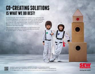 SEW Eurodrive: Co-Creating Solutions Is What We Do Best! Print Ad by Bolditalic Bengaluru