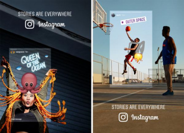 Instagram: Stories Are Everywhere [image] 6 Outdoor Advert by Wieden + Kennedy Amsterdam