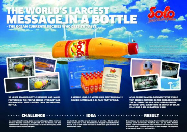 Solo: MESSAGE IN A BOTTLE, 2 Promo / PR Ad by Try/Apt Oslo