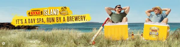 Xxxx Gold Beer: Day Spa Print Ad by BMF Australia