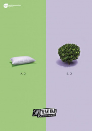 Health Promotion Agency: Bed Bush Print Ad by FCB Auckland