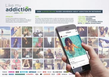 Addict Aide: Like My Addiction [image] Digital Advert by BETC, Francine Framboise