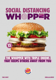 Burger King: Social Distancing Whopper, 2 Print Ad by Wunderman Thompson, Italy
