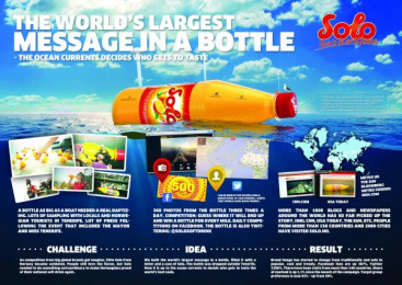 Solo: MESSAGE IN A BOTTLE, 1 Promo / PR Ad by Try/Apt Oslo
