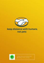 Senim-Meirim: Keep Distance with Humans, not Pets, 1 Print Ad by Grey Kazakhstan