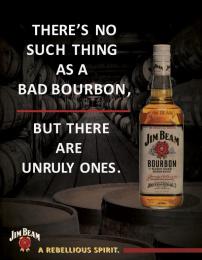 Jim Beam: Rebellious Spirit, 3 Print Ad by Miami Ad School Miami