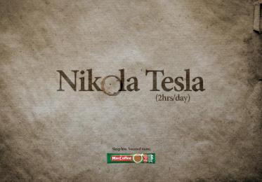 Maccoffee: Nikola Tesla Print Ad by Cheil Kazakhstan