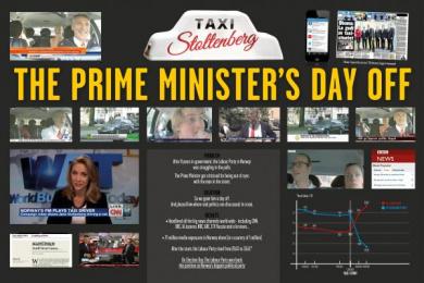 Arbeiderpartiet: Taxi Stoltenberg, 6 Digital Advert by Pravda, Try/Apt Oslo