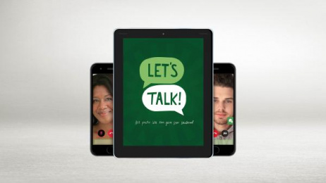 Let's Talk App: Let's Talk [image] Digital Advert by King