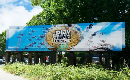 Playland: Dizzy Board Outdoor Advert by Rethink