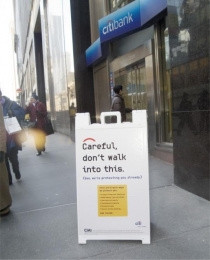 Bank Id Protection: CAREFUL Outdoor Advert by Wunderman New York