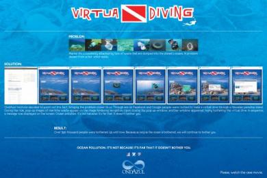 Fundacao Ondazul: VIRTUA DIVING Direct marketing by Que Comunicacao