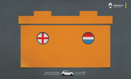 Renault: Flags - London to Luxembourg Print Ad by Publicis İstanbul