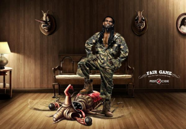 Pest'O'Cide: Fair Game Print Ad by Chirpy Elephant
