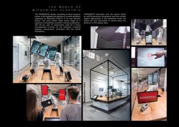 Threebots: Threebots - The World Of Mitsubishi Electric [image] Design & Branding by Elastique. We Design