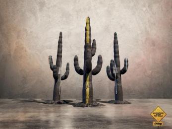 Jeep: Cactus Print Ad by Leo Burnett Paris