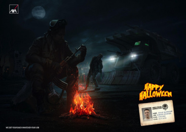 Axa Insurance: Happy Halloween, 1 Print Ad by Leo Burnett Cairo
