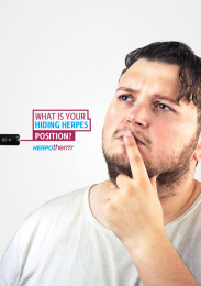 Herpotherm: What is your hiding herpes position?, 4 Outdoor Advert by Addict