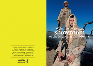 Amnesty International: Fashion & Arms, 4 Print Ad by DDB Paris, Handsome