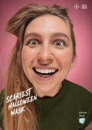 Public Health Center: Scariest Halloween Mask, 3 Print Ad by Angry Kyiv