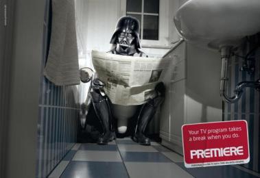 Premiere Pay Tv: BATHROOM Outdoor Advert by DDB Berlin