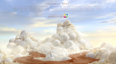 Marca País: Colombian Dairy Print Ad by Sancho BBDO Bogota