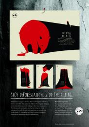 Malaysian Nature Society: CUT A TREE. KILL A LIFE - TAPIR [alternative version] Print Ad by Y&R Kuala Lumpur