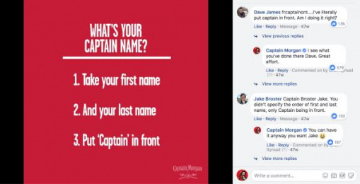 Captain Morgan: Cultural Commentary & Community Management, 2 Digital Advert by Gravity Road London