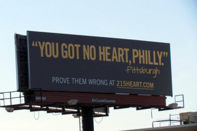 Donate Life: You Got No Heart Philly Outdoor Advert by Pavone Harrisburg, USA