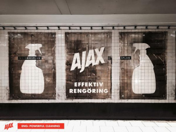Ajax: AJAX, stronger than dirt! 3 Outdoor Advert by ANR BBDO Stockholm
