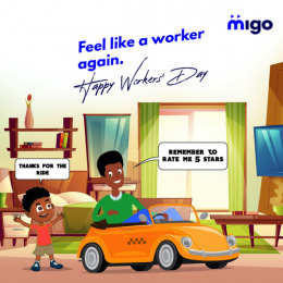 Migo: Feel Like A Worker Again, 1 Print Ad by X3M Ideas Lagos