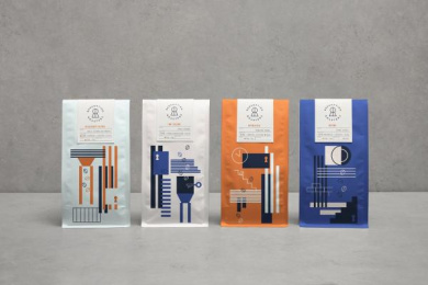 Redemption Roasters: Redemption Roasters, 2 Design & Branding by Here Design London