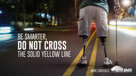 INS: Yellow Line Print Ad by Ogilvy San Jose