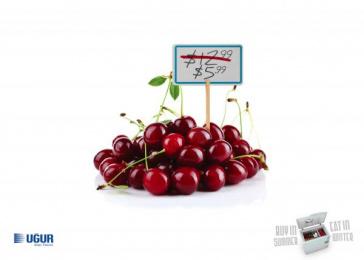 Uğur: Cherry Print Ad by Fikr Fikr Turkey, KAF Ankara