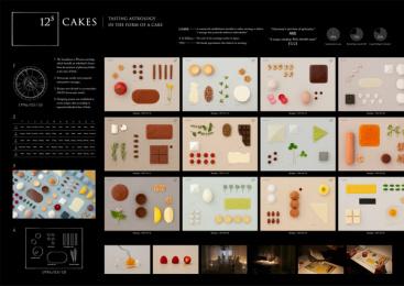 Lumine Co.: 12 to the fifth power cake, 1 Print Ad by ADBRAIN Inc., Dentsu Inc. Tokyo