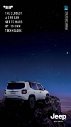 Jeep Renegade: The Closest a Car Can Get to Mars Print Ad by F.biz